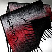 "Аксессуары handmade. Livemaster - original item Шарф мужской валяный ""В ритмах фламенко"". Handmade."