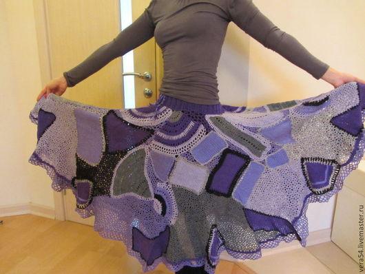 """Юбки ручной работы. Ярмарка Мастеров - ручная работа. Купить Вязаная юбка в стиле """"пэчворк"""" по мотивам Журнала мод. Handmade."""