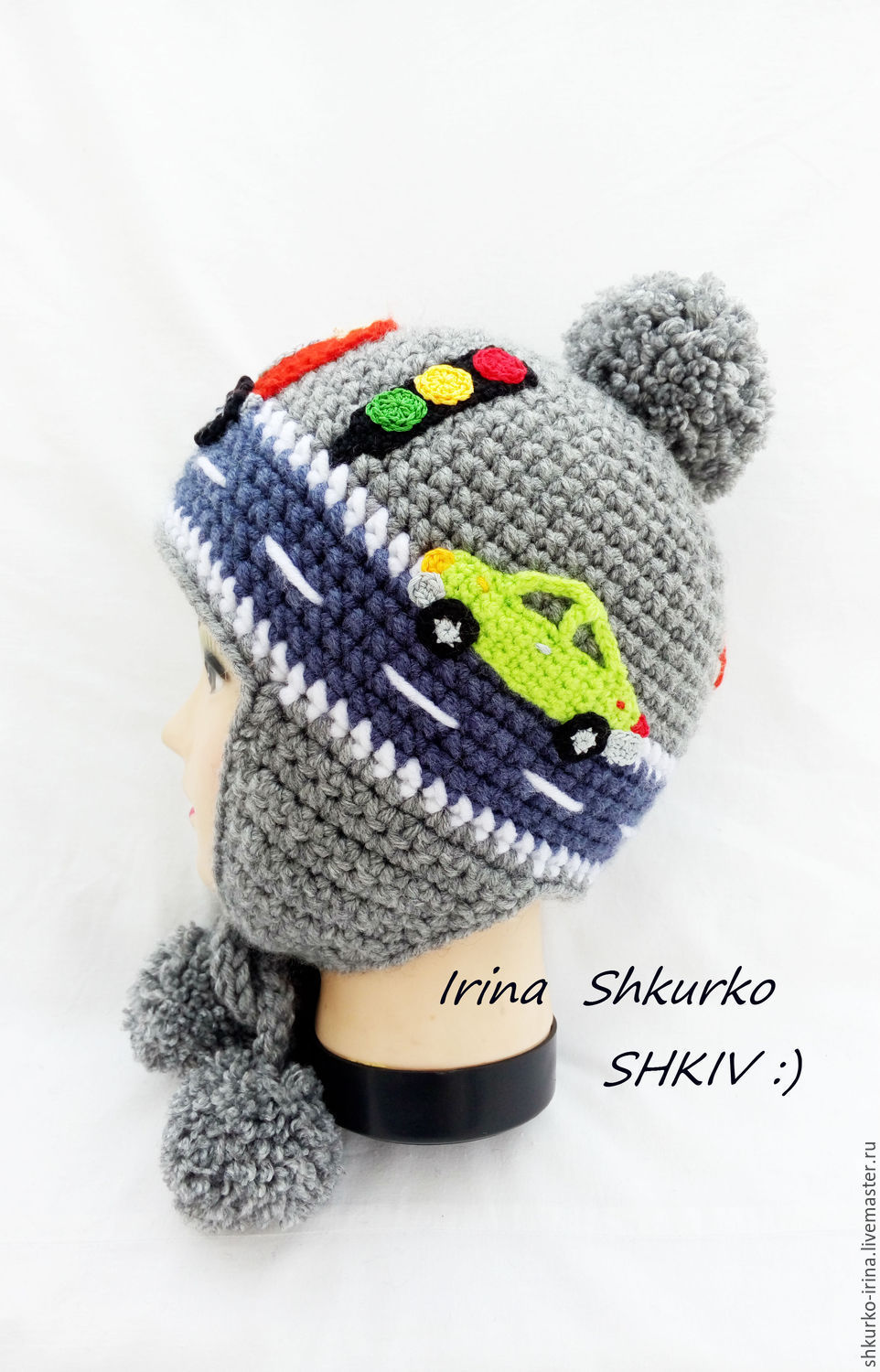 c3512904145 SHKIV Hats and scarves handmade.  Fire truck . winter hat