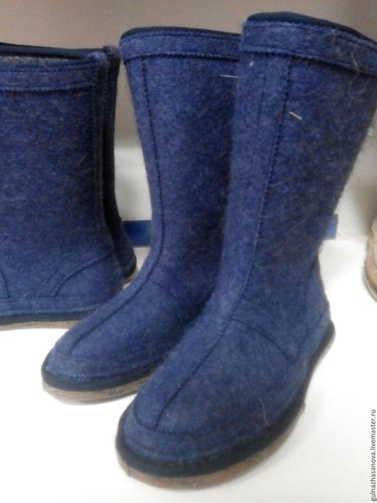 Обувь ручной работы. Ярмарка Мастеров - ручная работа. Купить Валенки шитые. Handmade. Фиолетовый, валенки