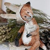 Куклы и игрушки ручной работы. Ярмарка Мастеров - ручная работа Курочка и Лис. Handmade.