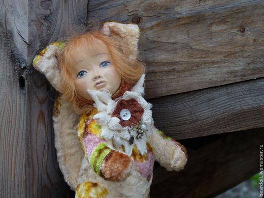 Коллекционные куклы ручной работы. Ярмарка Мастеров - ручная работа. Купить Киса Мусечка, тедди-долл. Handmade. Рыжий, тедди