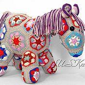 Куклы и игрушки handmade. Livemaster - original item Knitted toy-Horse souvenir. Handmade.