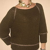 Одежда ручной работы. Ярмарка Мастеров - ручная работа пуловер реглан. Handmade.