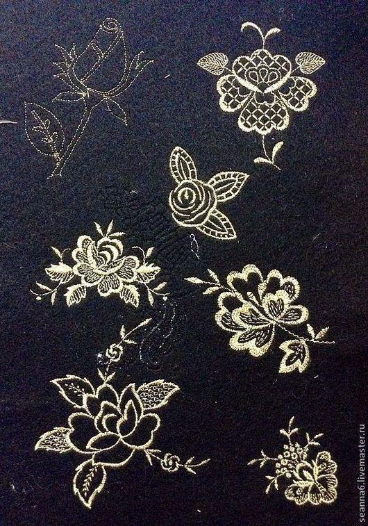 """Аппликации, вставки, отделка ручной работы. Ярмарка Мастеров - ручная работа. Купить Вышивка на одежде, аппликация, картинка, картина, панно """"Золотые розы"""". Handmade."""