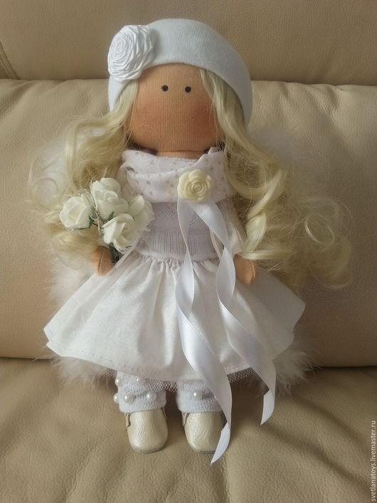 Куклы тыквоголовки ручной работы. Ярмарка Мастеров - ручная работа. Купить интерьерная кукла. Handmade. Белый, кукла тыквоголовка, рукоделие