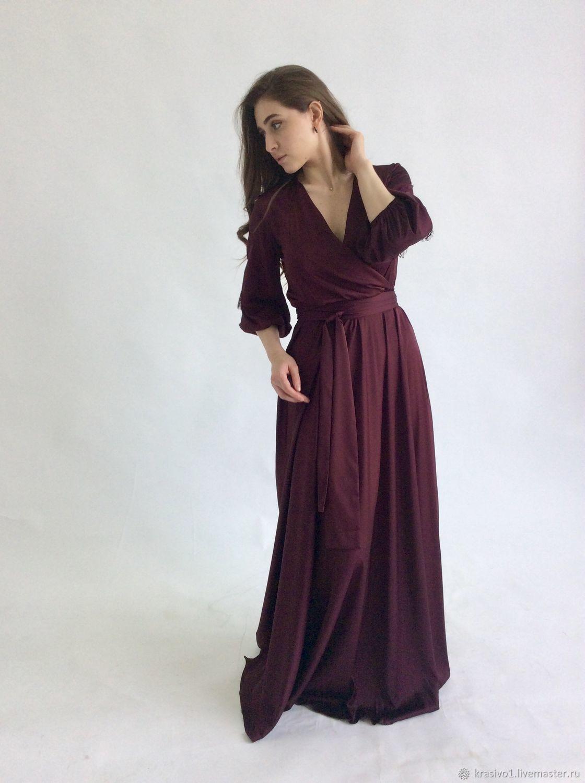 b5eeba5e0b1 Платья ручной работы. Ярмарка Мастеров - ручная работа. Купить Платье в пол  из шёлка ...
