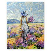 Картины и панно handmade. Livemaster - original item The picture Lavender field.. Handmade.