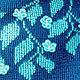 Топы ручной работы. топ вязаный женский с вышивкой Незабудка. Лилия. Вязание.. Интернет-магазин Ярмарка Мастеров. Вязаный топ