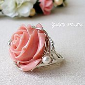 Украшения handmade. Livemaster - original item Ring with a large coral925 sterling silver.. Handmade.