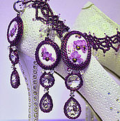 Украшения handmade. Livemaster - original item Wedding necklace and earrings of beads