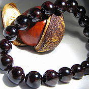 "Украшения handmade. Livemaster - original item Bracelet with garnet ""Only for you"". Handmade."