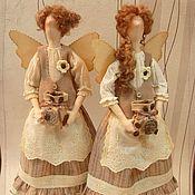 Куклы и игрушки ручной работы. Ярмарка Мастеров - ручная работа Тильды кофейные феи. Handmade.