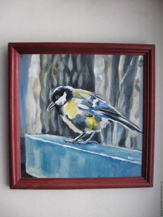 Картина с птицей. Картина птички. Картина маслом. Картина в подарок. Ярмарка Мастеров - ручная работа.