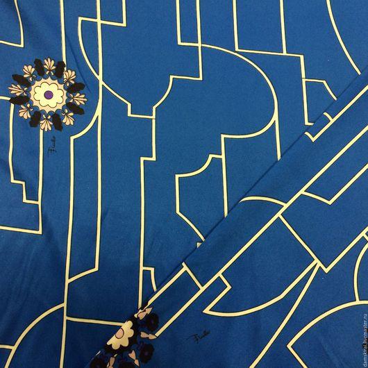 Шитье ручной работы. Ярмарка Мастеров - ручная работа. Купить Ткань атлас. Handmade. Синий, атлас, ткань для творчества