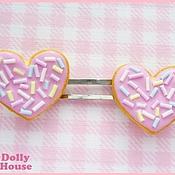 "Украшения ручной работы. Ярмарка Мастеров - ручная работа Заколки ""Heart Cookies"". Handmade."