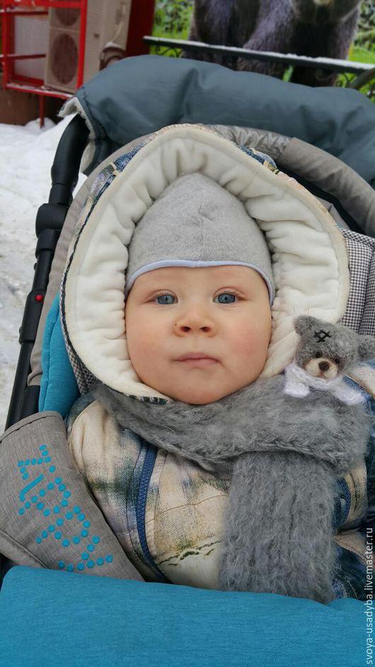 Шапки и шарфы ручной работы. Ярмарка Мастеров - ручная работа. Купить Детский шарф Тедди. Handmade. Серый, шарф шерстяной