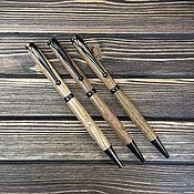 Канцелярские товары ручной работы. Ярмарка Мастеров - ручная работа Шариковые ручки из ценных пород древесины. Handmade.