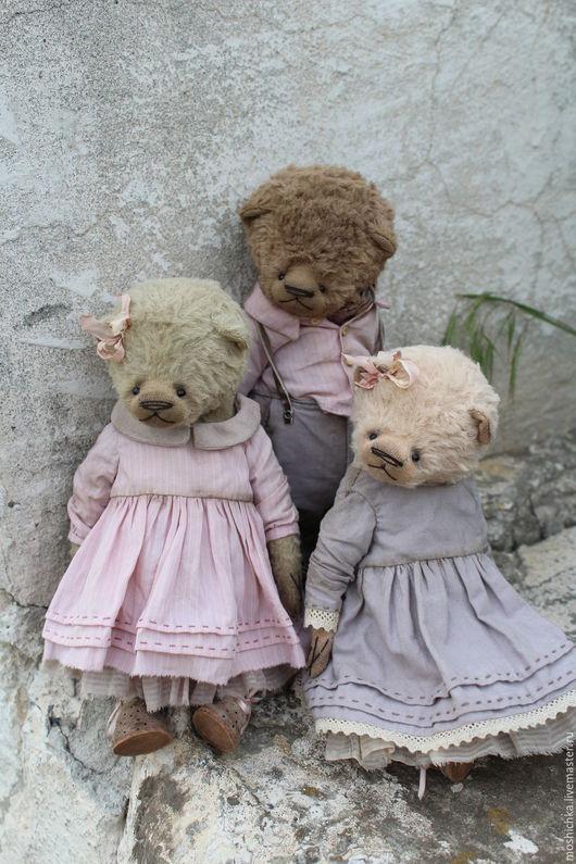 Мишки Тедди ручной работы. Ярмарка Мастеров - ручная работа. Купить Мишки. Handmade. Комбинированный, мишка в одежде, опилки