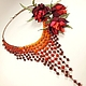 Coral Cyclone. Necklace, brooch, Jewelry Sets, St. Petersburg,  Фото №1
