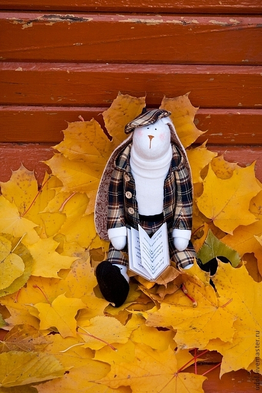 Куклы Тильды ручной работы. Ярмарка Мастеров - ручная работа. Купить Тильда-заяц Фёдор. Handmade. Коричневый, флис, фетр