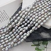 Материалы для творчества handmade. Livemaster - original item 1/2 thread pearl natur. figure approx. .4-4,5 mm (thickness) grey (5310). Handmade.
