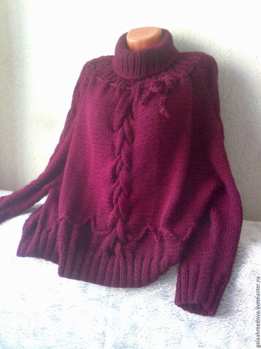свитер,пончо,женская одежда,вязаная одежда,теплый свитер,объемный свитер,оверсайз,большой размер, свободный стиль,свитер ручной работы, пончо вязаное,бохо,бохо-стиль