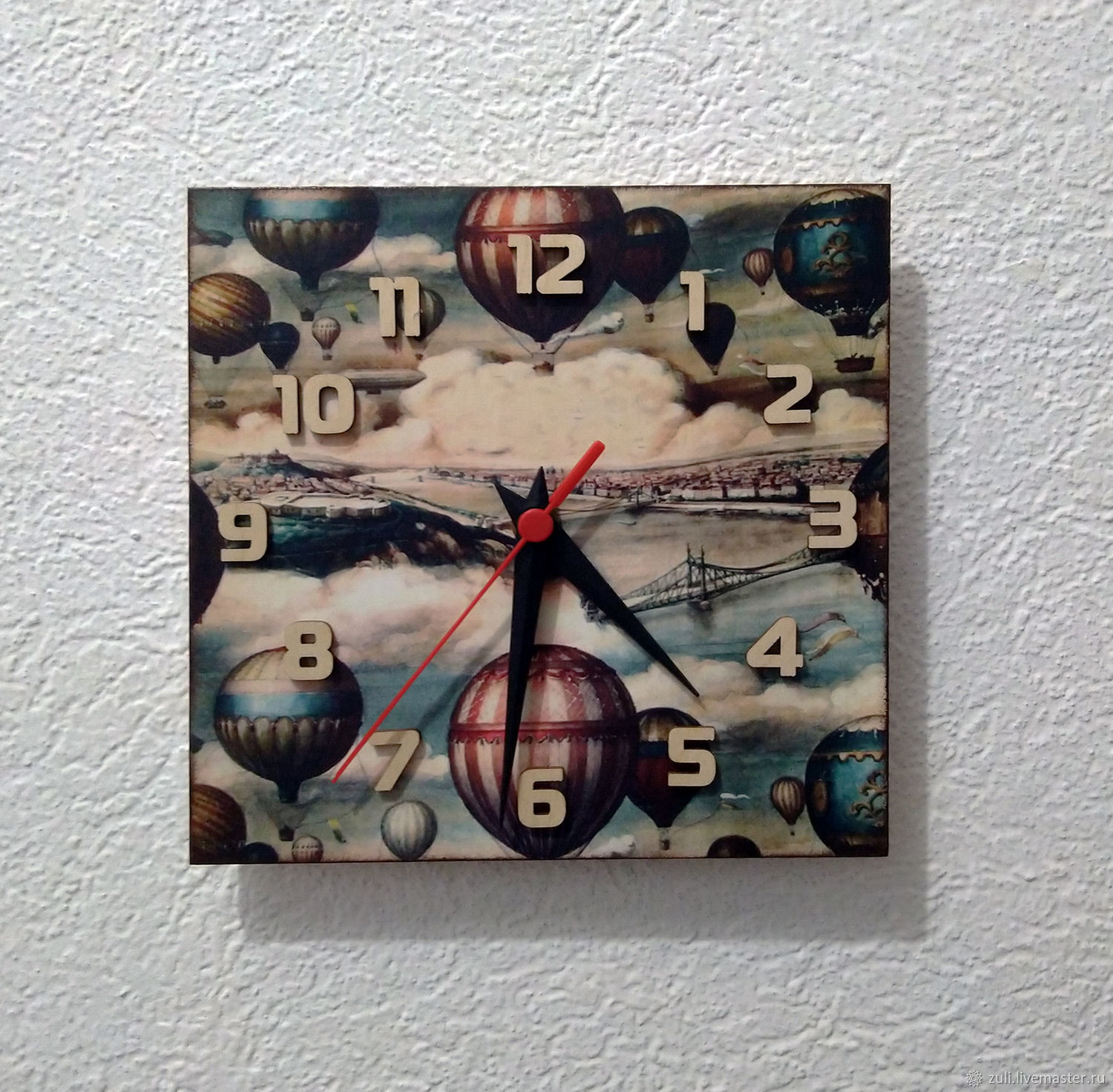 Wall clock in the children's room ' Journey on a balloon', Watch, Podolsk,  Фото №1