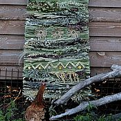 """Русский стиль ручной работы. Ярмарка Мастеров - ручная работа Тканный коврик из трав """"Солнце каждый день"""". Handmade."""