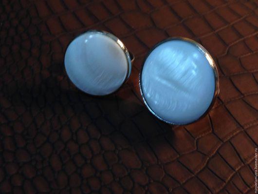 """Кольца ручной работы. Ярмарка Мастеров - ручная работа. Купить Перстень """"Круглый"""" Ф вставки 20 и 25 мм, перламутр. Handmade."""