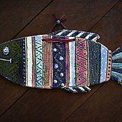 """Картины и панно ручной работы. Ярмарка Мастеров - ручная работа Настенное панно """"Рыба"""". Handmade."""