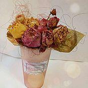 Композиции ручной работы. Ярмарка Мастеров - ручная работа Стаканчик с сухоцветами. Handmade.