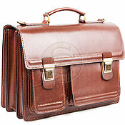 Сумки и аксессуары handmade. Livemaster - original item Men`s leather briefcase