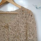 Одежда handmade. Livemaster - original item Openwork summer cardigan Linen, Crazy Wool. Handmade.