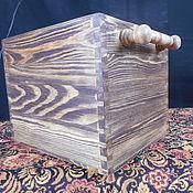Для дома и интерьера handmade. Livemaster - original item Storage box with chiseled handles. Handmade.