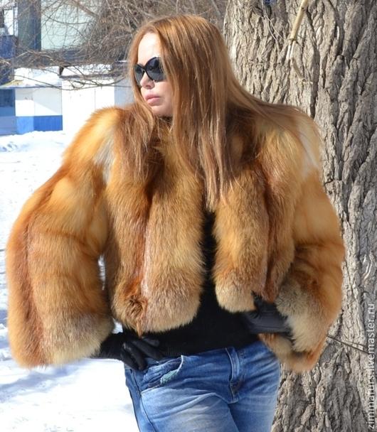 Верхняя одежда ручной работы. Ярмарка Мастеров - ручная работа. Купить Шуба. Жакет. Болеро из меха сибирской рыжей лисы.. Handmade.