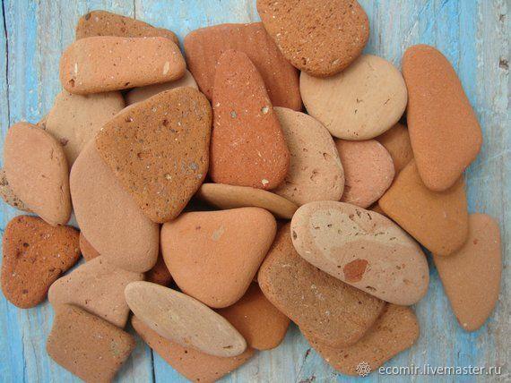 Камешки керамические морские декоративные 500г, Природные материалы, Анапа,  Фото №1