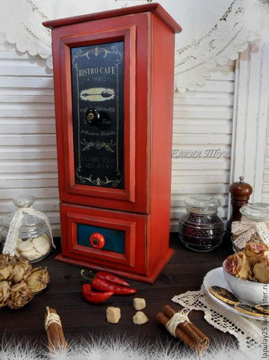"""Мини-комоды ручной работы. Ярмарка Мастеров - ручная работа. Купить """"Французское кафе"""" Комод-буфет. Handmade. Красный цвет"""