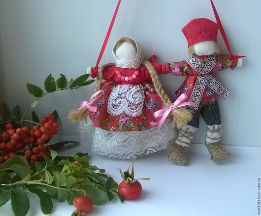 Народные куклы ручной работы. Ярмарка Мастеров - ручная работа. Купить Неразлучники Любовь свадебная кукла. Handmade. Неразлучники