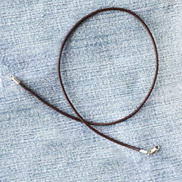 Украшения ручной работы. Ярмарка Мастеров - ручная работа Шнурок из кожи 2,0мм темно-коричневый, гладкий, натуральный. Handmade.