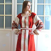 Русский стиль handmade. Livemaster - original item Slavic Russian linen dress