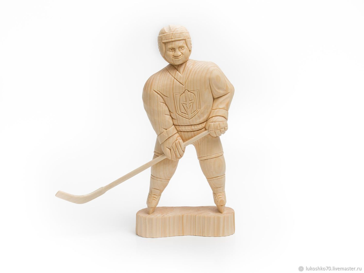 Wooden figurine 'the Hockey player'. Wooden figure, Figurine, Tomsk,  Фото №1
