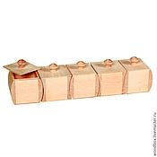Материалы для творчества handmade. Livemaster - original item NS5 set of boxes blank for spices. Handmade.