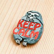 Брошка ленивец Keep Calm