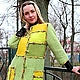 """Пиджаки, жакеты ручной работы. Ярмарка Мастеров - ручная работа. Купить Пальто """"Mosaic in green"""". Handmade. Зеленый"""