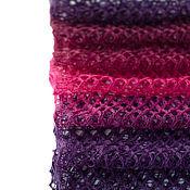 Аксессуары ручной работы. Ярмарка Мастеров - ручная работа БРОНЬ! Шарф ажурный Фиолетовая фуксия (длинный). Handmade.