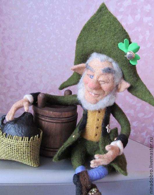 Коллекционные куклы ручной работы. Ярмарка Мастеров - ручная работа. Купить Коллекционная кукла. Весёлый Лепрекон. Handmade. Лепрекон, дерево