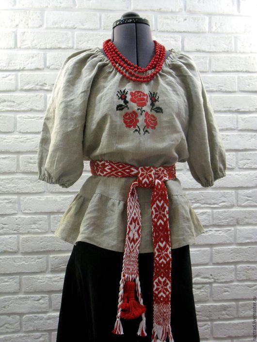 Этническая одежда ручной работы. Ярмарка Мастеров - ручная работа. Купить Блузка в русском стиле. Handmade. Вышиванка женская