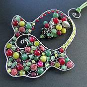 Для дома и интерьера ручной работы. Ярмарка Мастеров - ручная работа Интерьерная хамса с гроздью. Handmade.