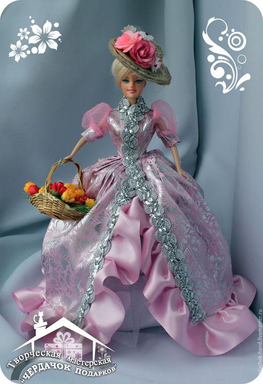 """Шкатулки ручной работы. Ярмарка Мастеров - ручная работа. Купить Кукла-шкатулка """"Цветочница"""". Handmade. Розовый, куколка-шкатулка"""
